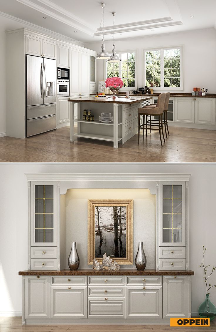 #kitchen Neo Classical Style In Whole House Design | Whole House Solution  In Neo Classical Style | Pinterest | Full House, Living Room Kitchen And ...