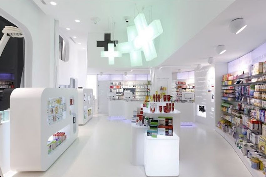 barcelona spain pharmacy design by xavier martin photo by rigue prince