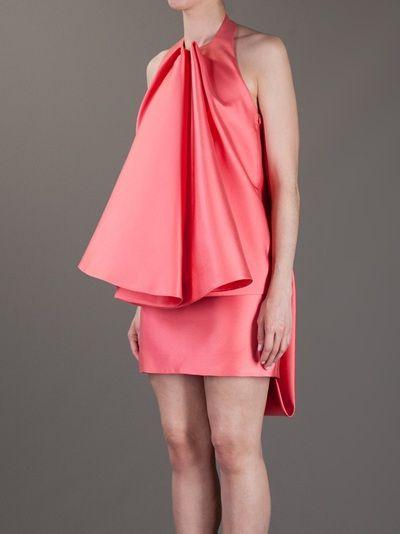 AMAYA ARZUAGA - asymmetric ruffled dress 8