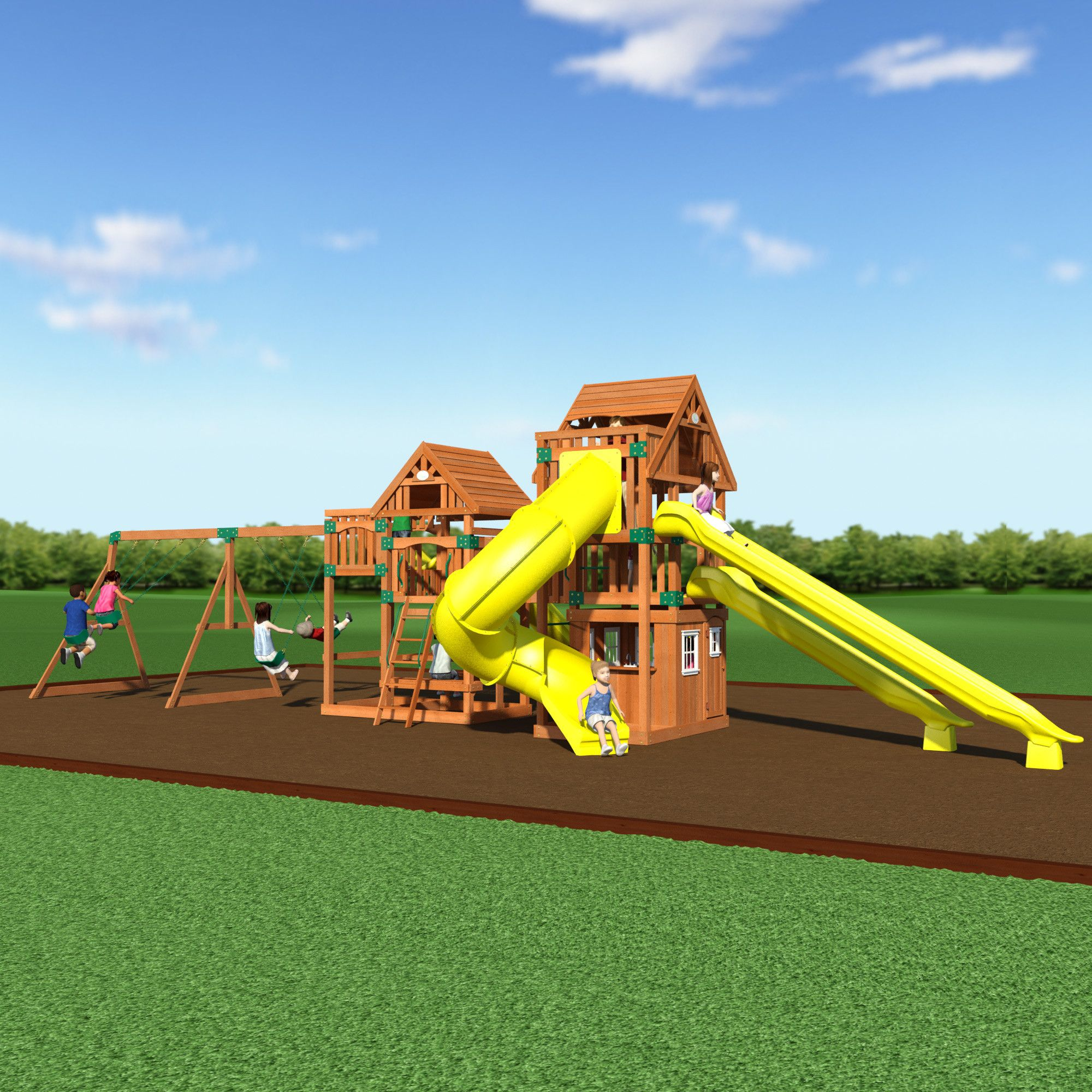 Safari Wooden Swing Set – Backyard Discovery