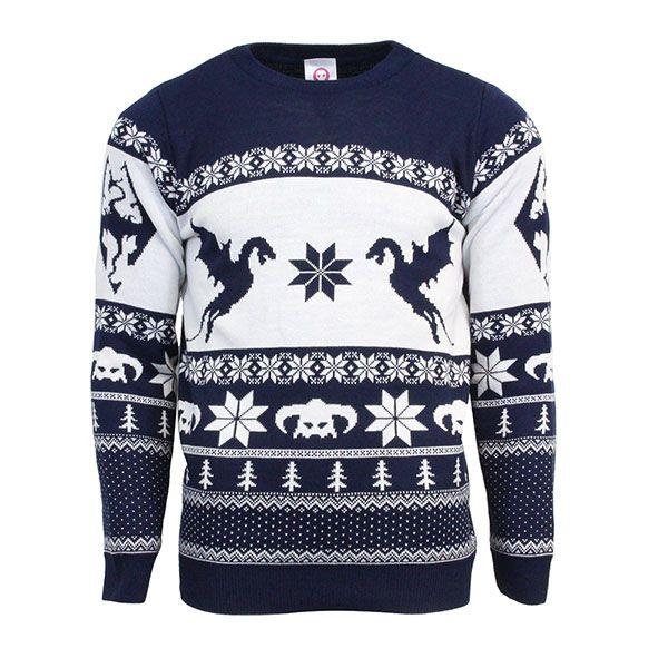 skyrim christmas jumper sweater numskull