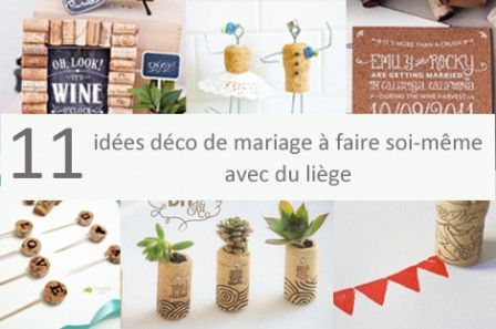 Ides Pour Faire Sa Dco De Mariage Avec Du Lige  Weddings