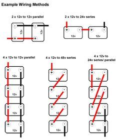 wiring multiple 6 volt batteries together parallel wiring rh pinterest com wiring series parallel batteries wiring batteries in parallel increases the