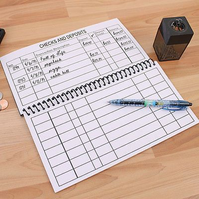 Large Print Check Register Game Pinterest Check register - check register
