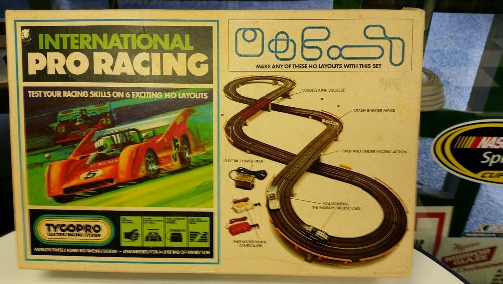 Vintage Early 70 S Tyco Slot Car Set International Pro Racing