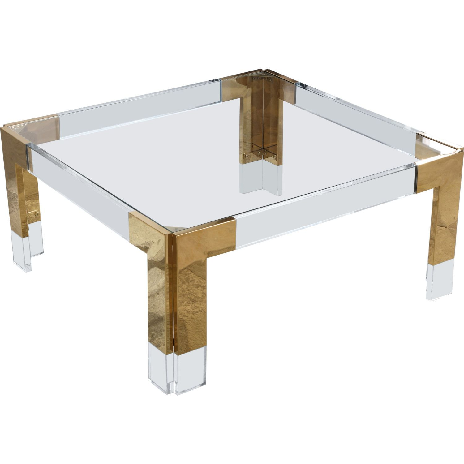 Meridian Furniture 200 Ct Casper Coffee Table Glass Gold Stainless Acrylic In 2021 Glass Coffee Table Coffee Table Square Acrylic Coffee Table [ 1500 x 1500 Pixel ]