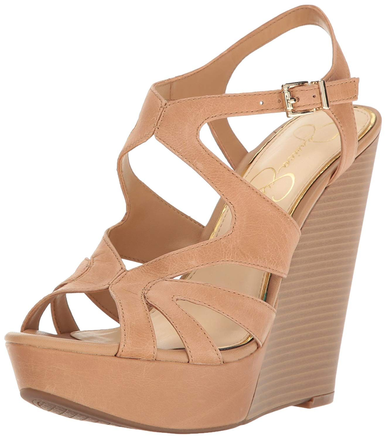 946c46197d5f Jessica Simpson Women s Brissah Wedge Sandal. Sexy high heel wedge Jessica  Simpson is famous for her fun