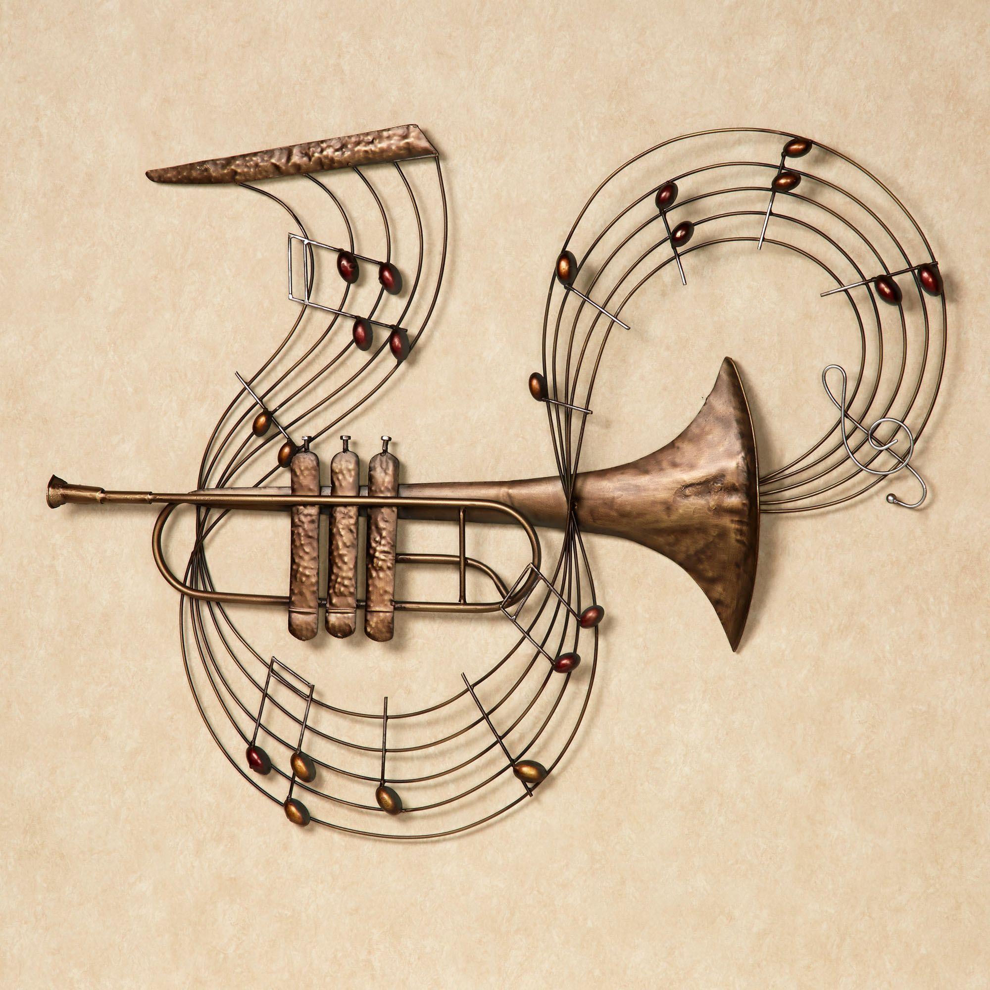 Trumpet Melody Metal Wall Art Music Wall Art Wall Sculpture Art Instruments Art