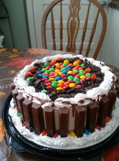 Oreo Dairy Queen Ice Cream Cake With Kit Kats And M Ms