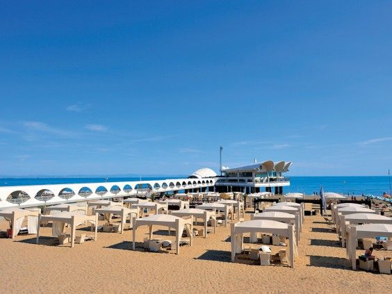 Lignano Sabbiadoro #Beach - The VIP area of is situated in one of ...
