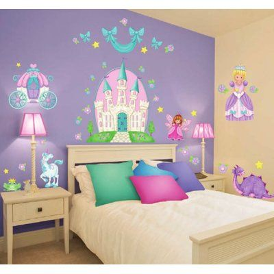 borders unlimited princess camryn super jumbo appliqué wall decal