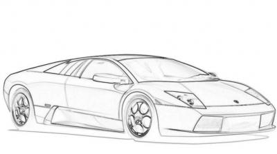 imagenes de autos deportivos para dibujar faciles  Lugares que