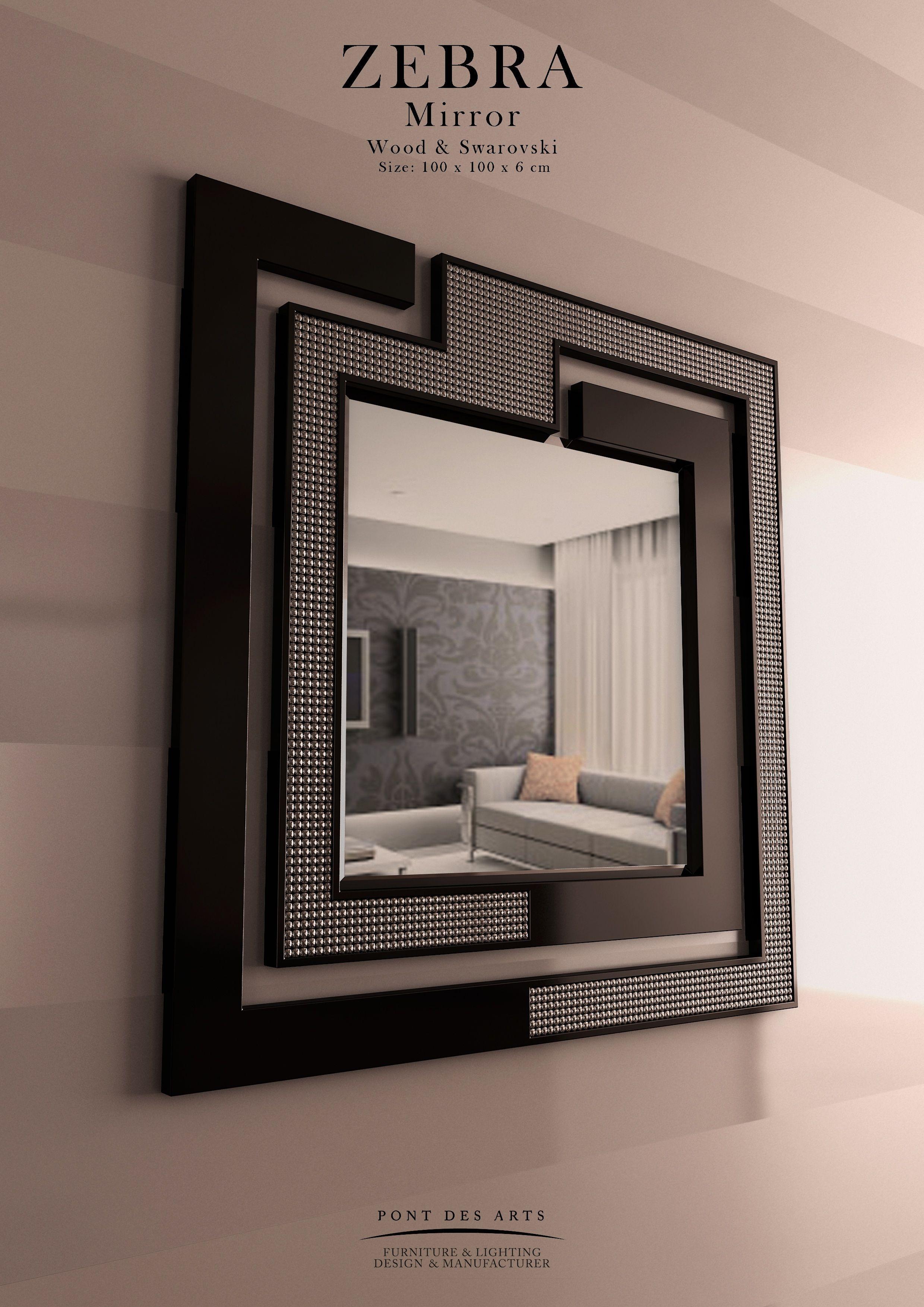 Zebra mirror pont des arts designer monzer hammoud for E mobilia paris