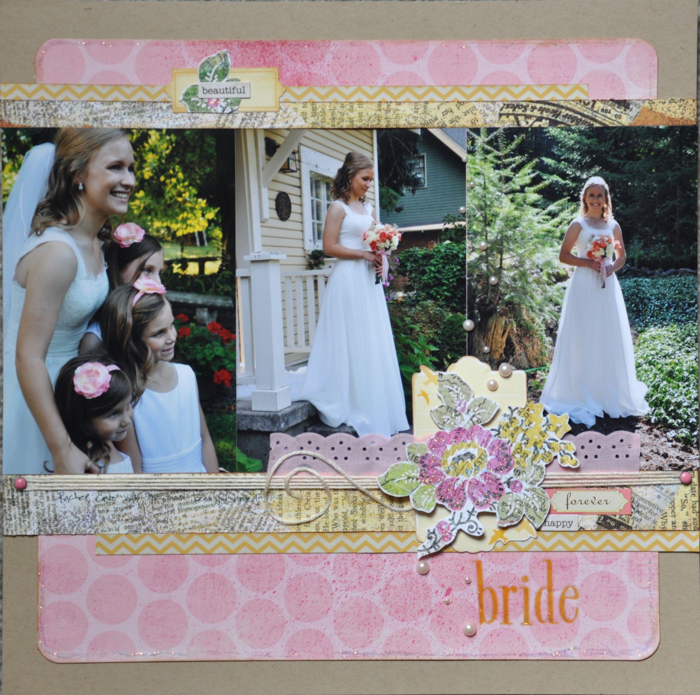 Bride scrapbooking layouts wedding