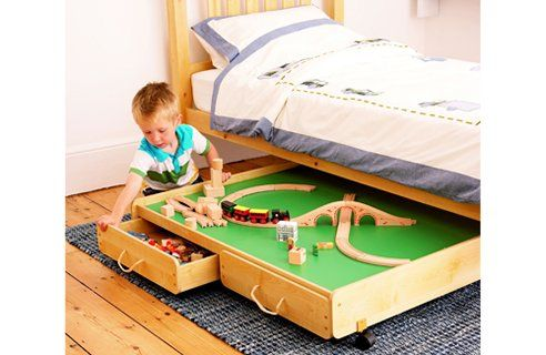 Create A Play Space Under Bed Play Table Storage Kids Room