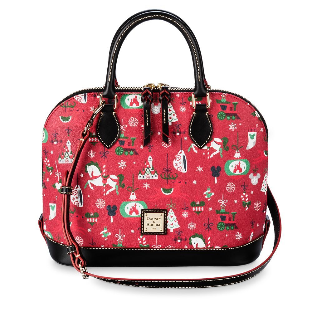 Celebrate The Magic Of Disney Parks With This Satchel From Dooney Bourke Featuring An Allover Pattern Of Ornaments Inspire Disney Dooney Dooney Bourke Dooney