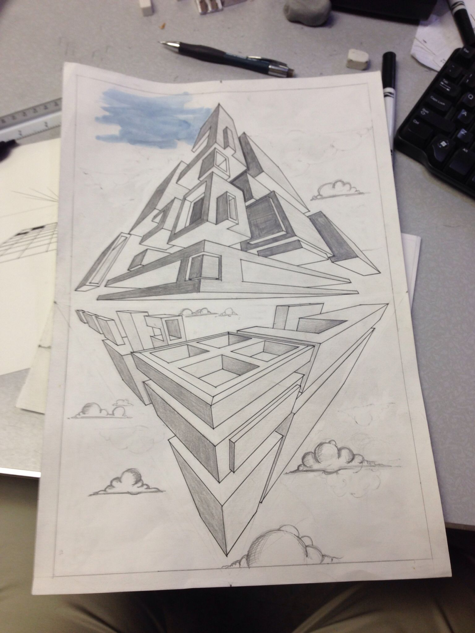 3 Point Perspective Assignment For Upper Classes