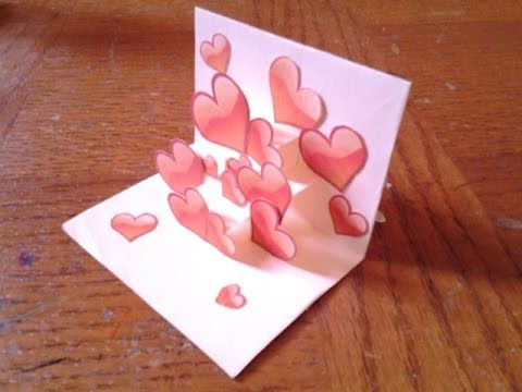 Easy And Simple Pop Up Card Tutorial For Beginners 2 Heart Pop Up Card Valentines Cards Pop Up Cards