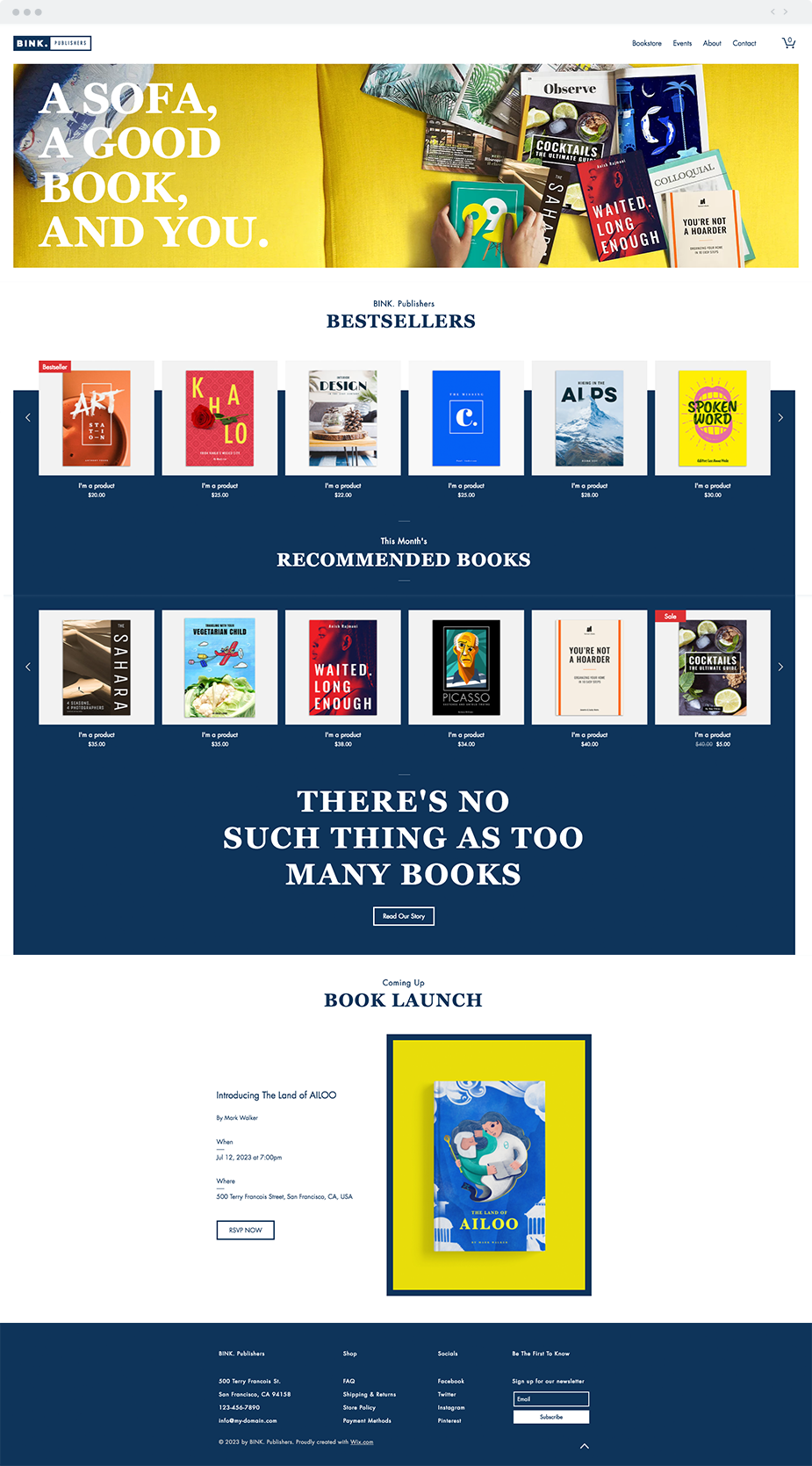 Online Book Store   Website Template   Wix Website Templates