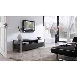 Adrianna Grey High Gloss Stainless Steel Tv Stand Ping