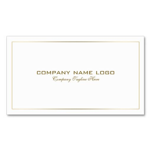 Simple Modern Tin Gold Border On White Business Card Zazzle Com White Business Card Printing Double Sided Business Cards