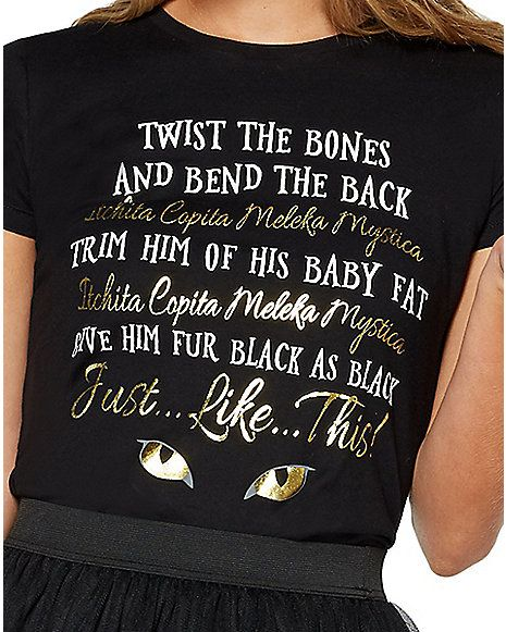 a669b076 Twisted Bones Binx Spell T Shirt - Hocus Pocus - Spirithalloween.com ...