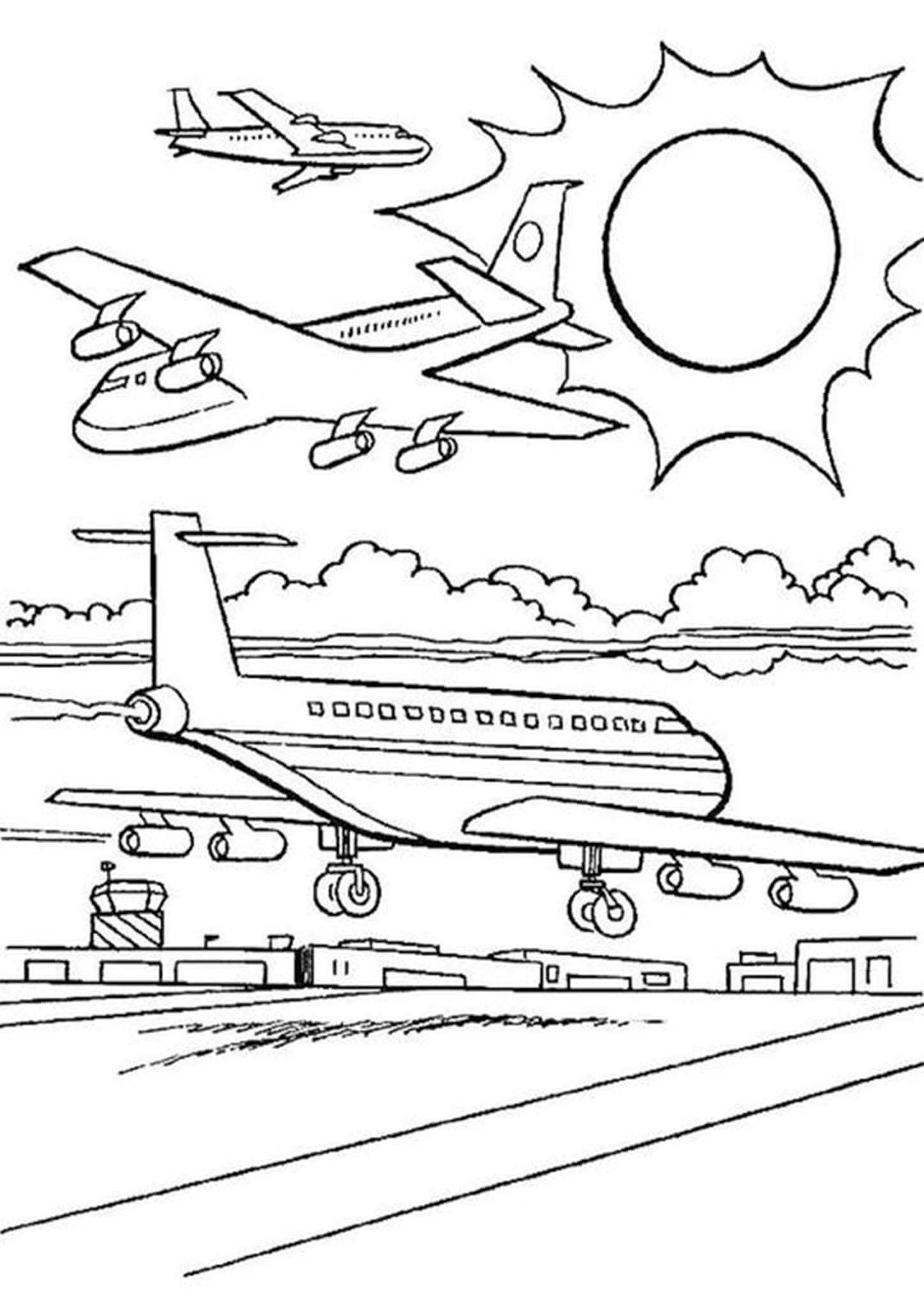 Free Easy To Print Airplane Coloring Pages Airplane Coloring Pages Coloring Pages For Kids Kids Coloring Books