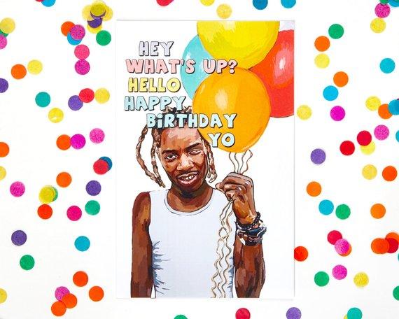bfcbbefa3 Fetty Wap Birthday Card (Funny Birthday Card, Kanye West, Drake, Rapper,  Kid Ink, DJ Khaled, Lil Wa