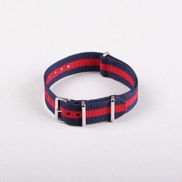 MWC 20mm NATO Strap - Red/Navy - Front