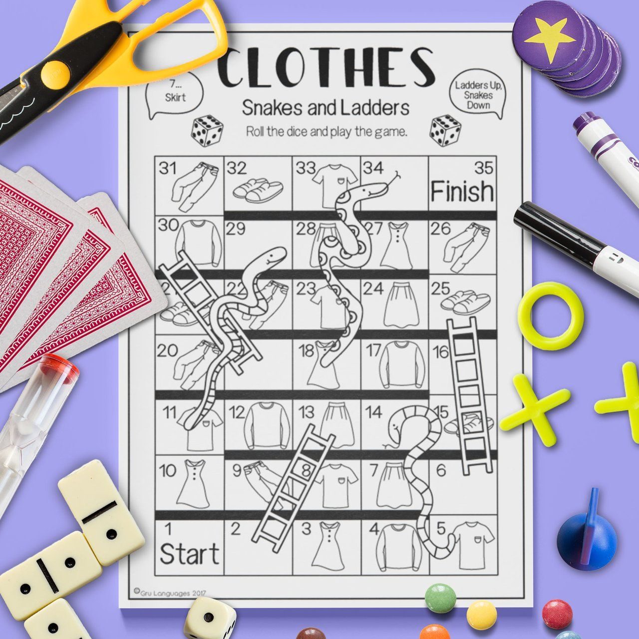 Clothes Snakes Amp Ladders Game