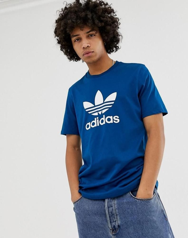 8686899122e adidas Originals Men's Trefoil Original T-shirt 100% Cotton in Drak Blue    Clothing, Shoes & Accessories, Men's Clothing, Shirts   eBay!