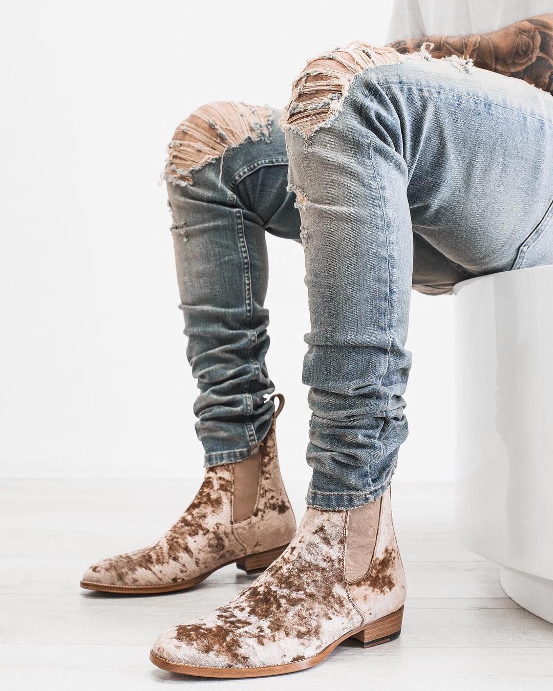 The Reggio Velvet Chelsea Boots Chelsea Boots Mens High Street