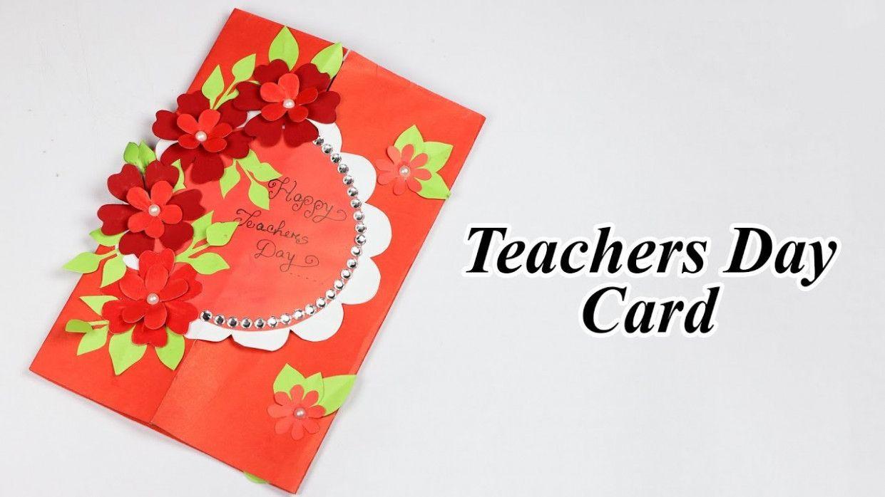 Teachers Day Card With Waste Material Teachers Day Card Teachers Diy Teacher Appreciation Cards
