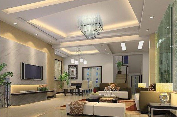 pladur techo decorativo con luz indirecta