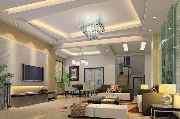 Pladur | Techo decorativo con luz indirecta | sala | Pinterest ...