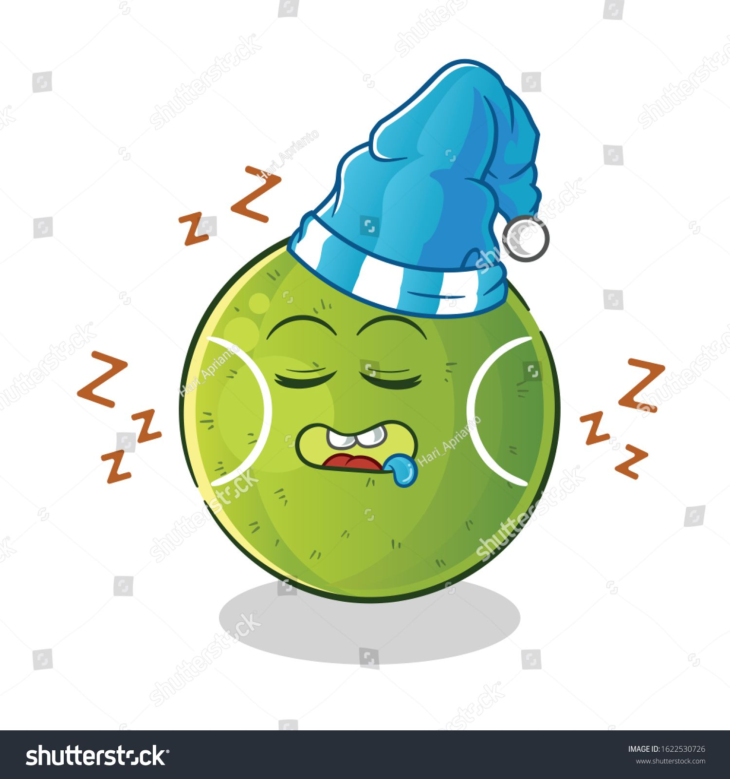Tennis Ball Sleeping With Sleeping Hat Cartoon Cute Chibi Cartoon Mascot Vector Ad Affiliate Sleeping Hat Tennis Ball In 2020 Sleep Hat Cute Chibi Photo Editing