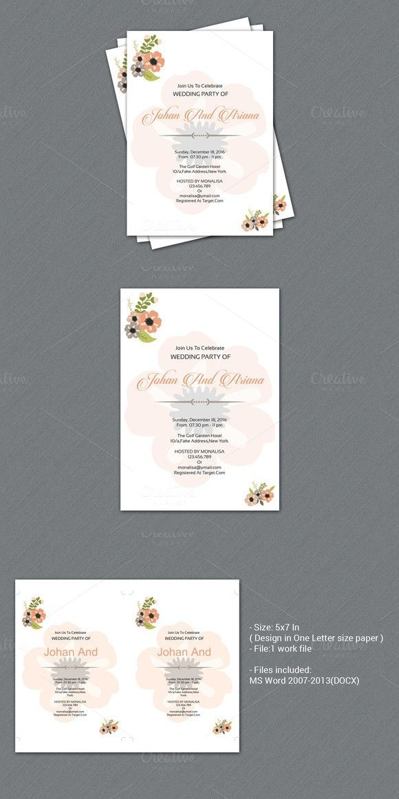 Wedding Invitation Template Wedding Invitation Template