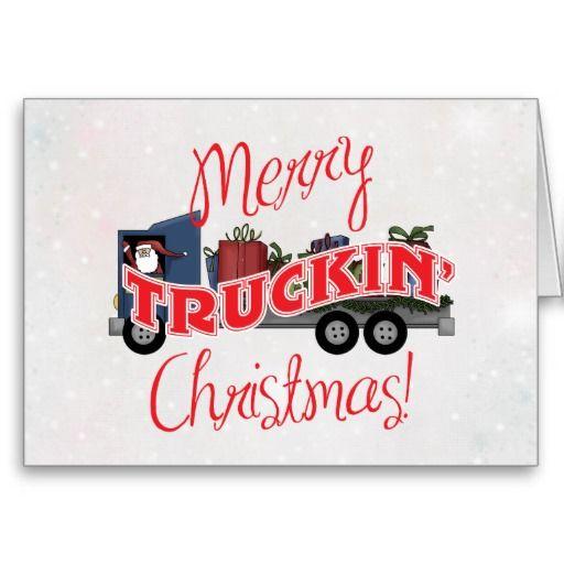 Merry Truckin Christmas Business Christmas Card Zazzle Co Uk Business Christmas Cards Funny Christmas Cards Christmas Cards
