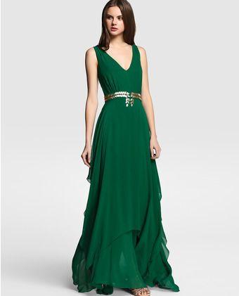 Vestido verde menta tintoretto