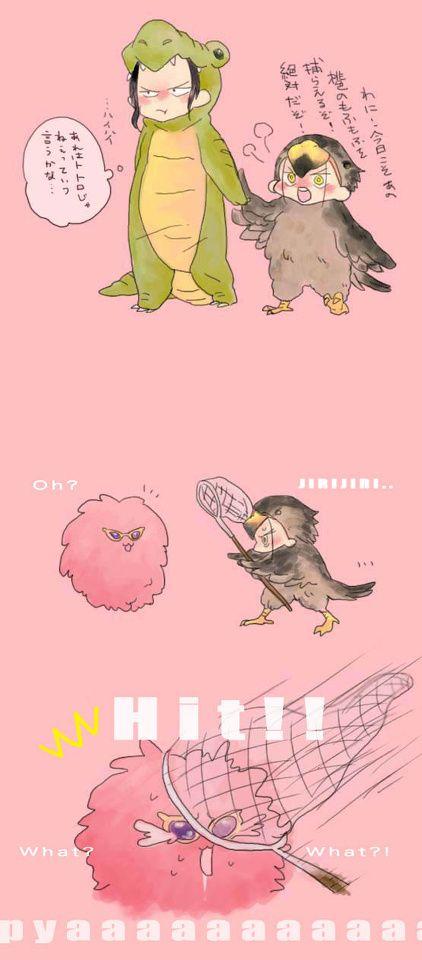 Crocodile is a crocodile, Mihawk is a hawk and Doffy is... fluffy?