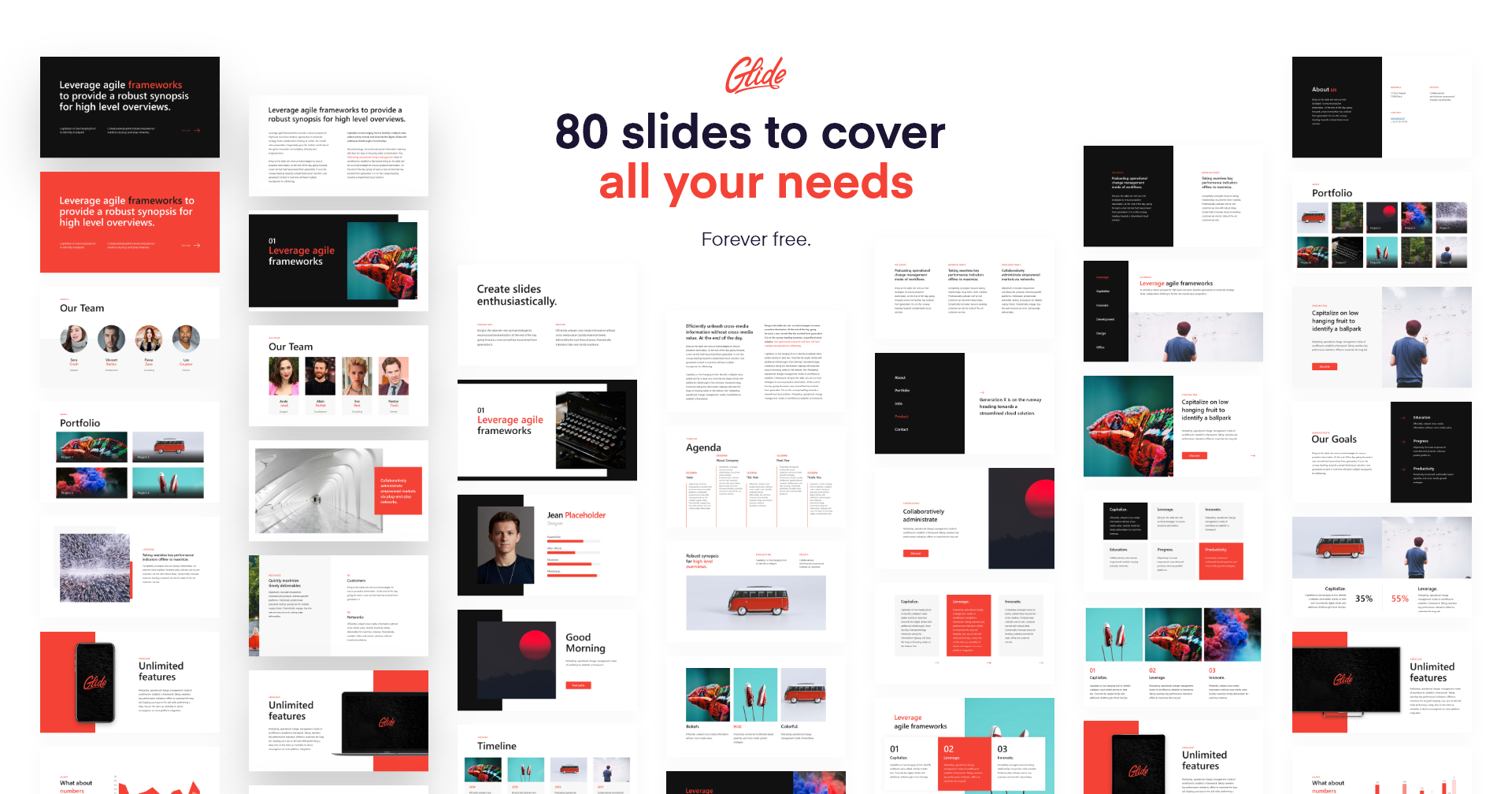 Glide Is A 100 Free Powerpoint Template Made For Everyone 80 Slides Including Mockups Icons Maps And More Powerpoint Templates Powerpoint Templates