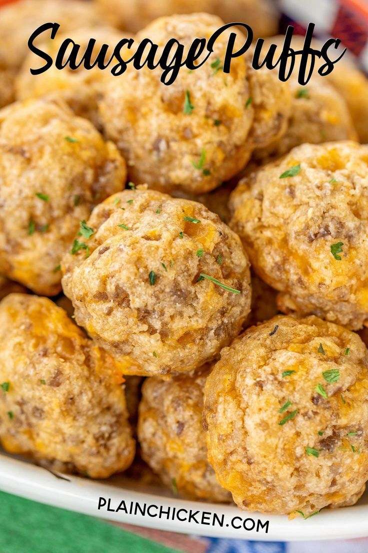 Sausage Puffs - Football Friday - Plain Chicken