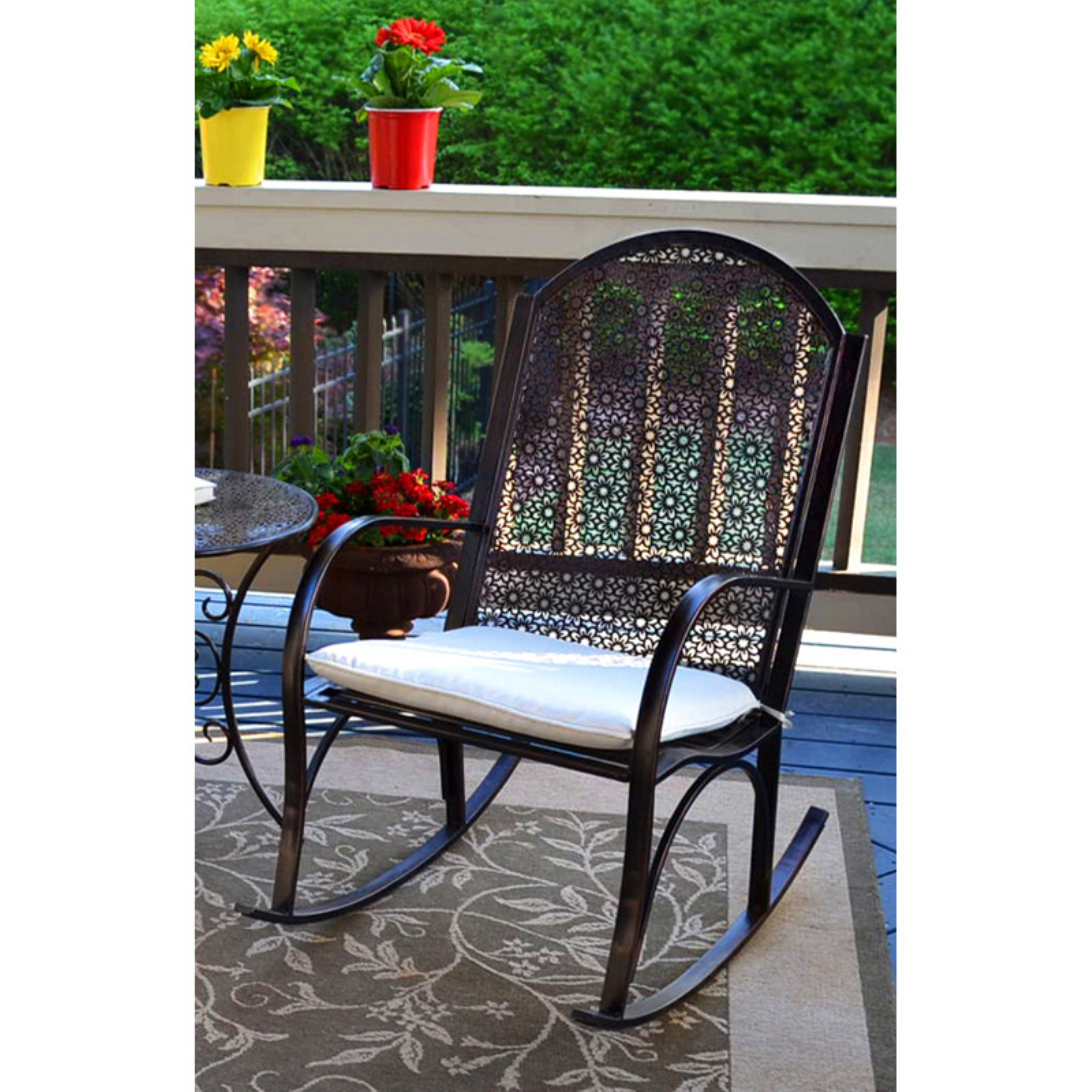 Tortuga Outdoor Rocking Chair with Cushion Patio rocking