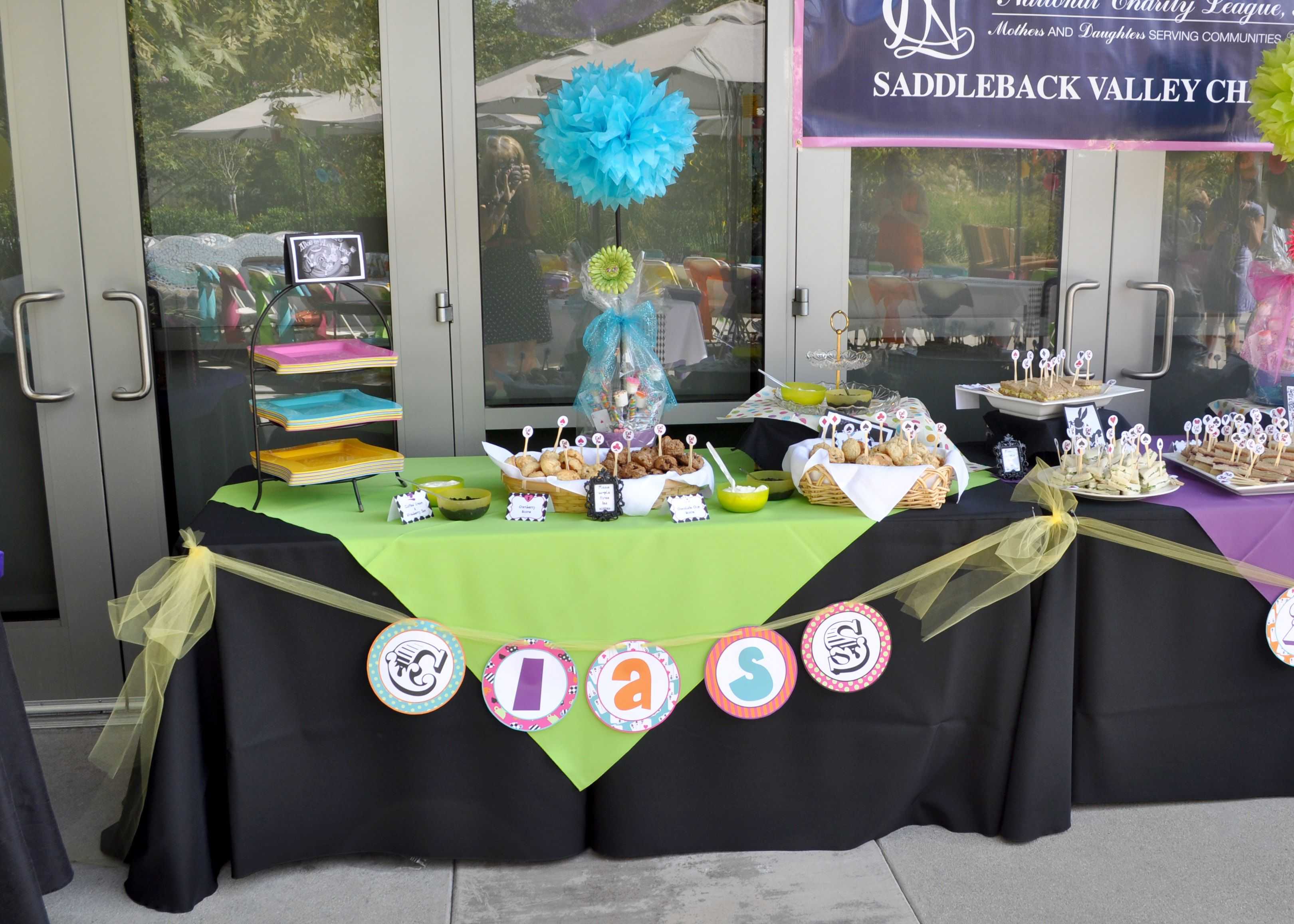 """National Charity League, local chapter, had a """"Mad Hatter"""" theme"""