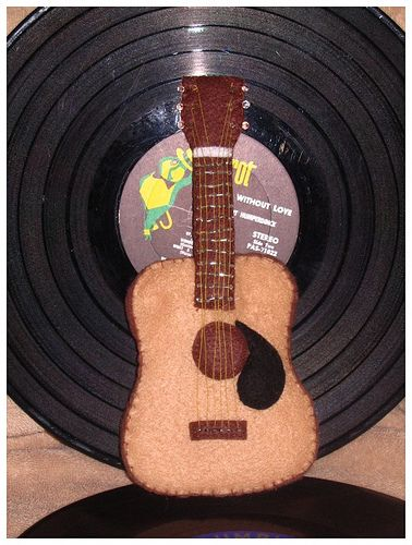 Felt Guitar Miscellaneous Topics Music Ornaments Felt Christmas Ornaments Felt Ornaments