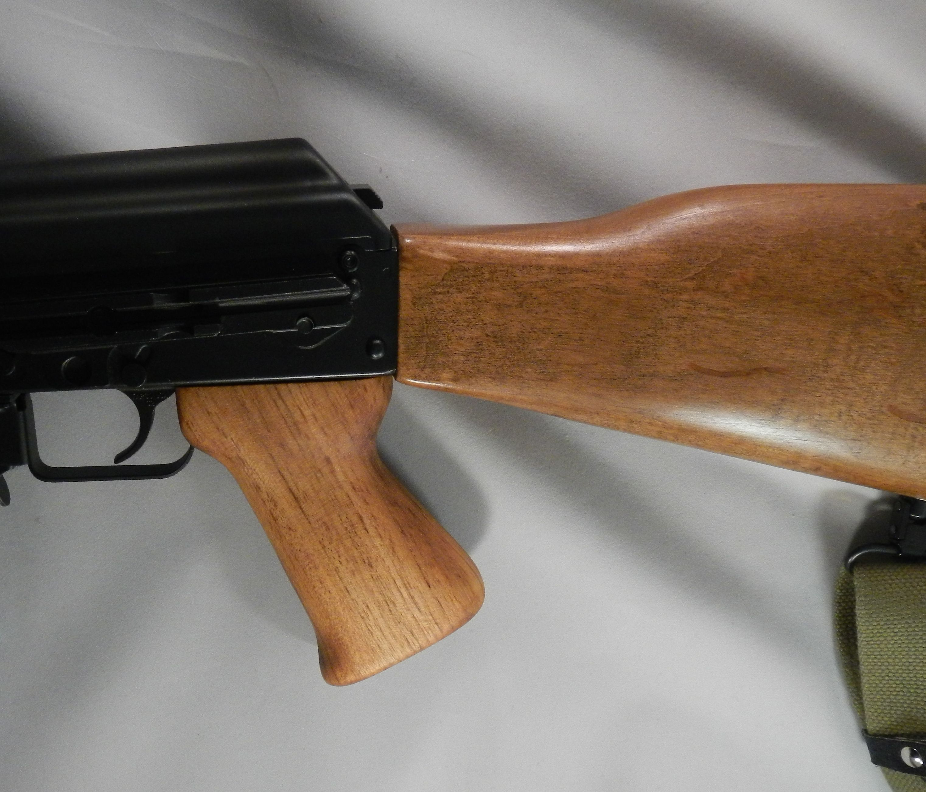 The plastic grip on this Zastava NPAP was replaced with a