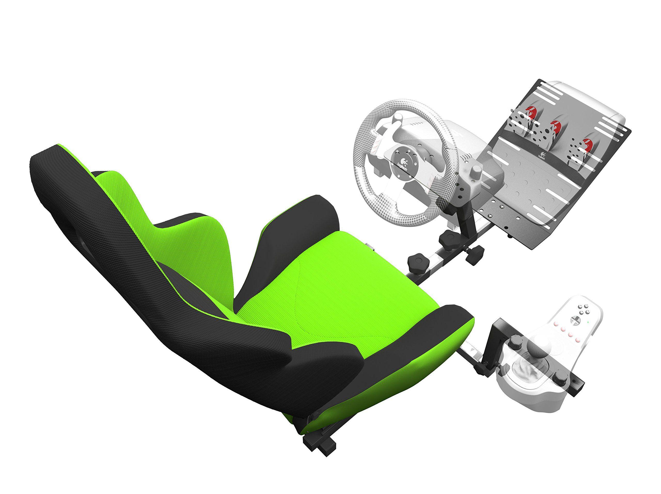 Openwheeler Gen2 Racing Wheel Stand Cockpit Green On Black