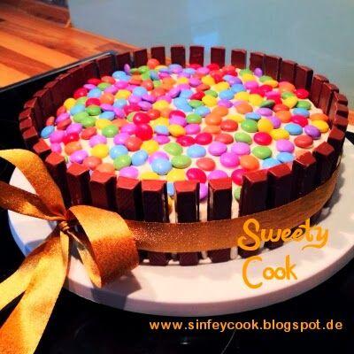 Sweety-Cook: Bunte KitKat Torte