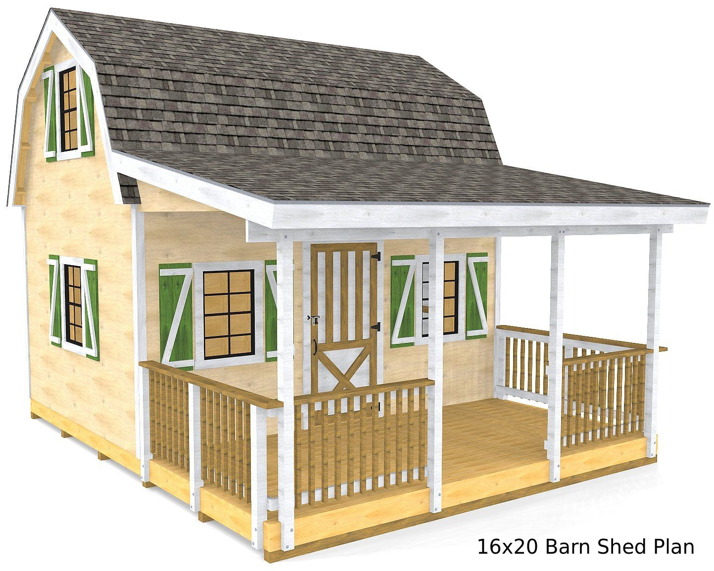 Photo of Barn Shed Plan (3‑Sizes)