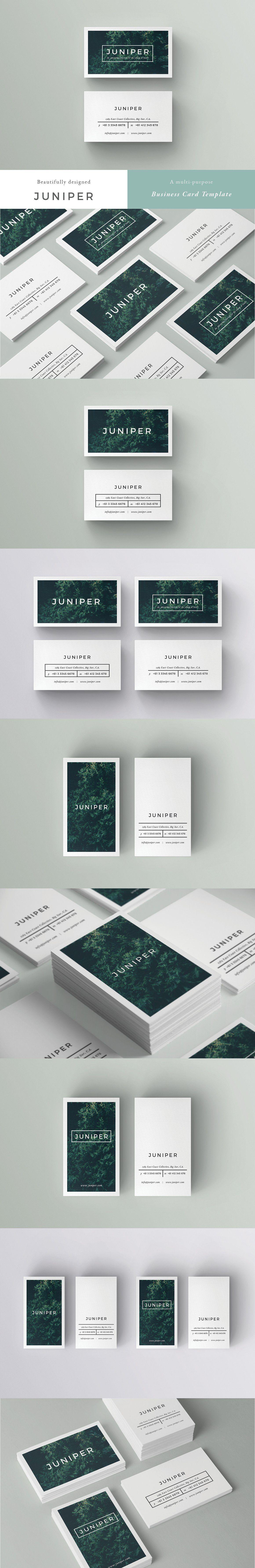 J U N I P E R Business Card Template Card Templates Business